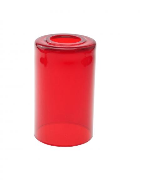 Candola Glaszylinder klar gekürzt, rot (Type: V) - 6 Stück