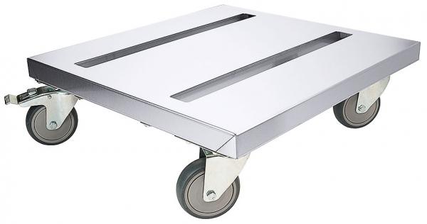 Rollwagen für Thermoboxen Fläche: 55 cm x 50 cm Höhe: 17 cm