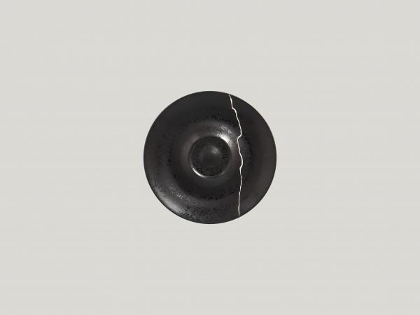 RAK Untertasse Ø 15 cm Ht. 1,5 cm Schwarz/Silber KINTZOO (KZSWSA15S1)