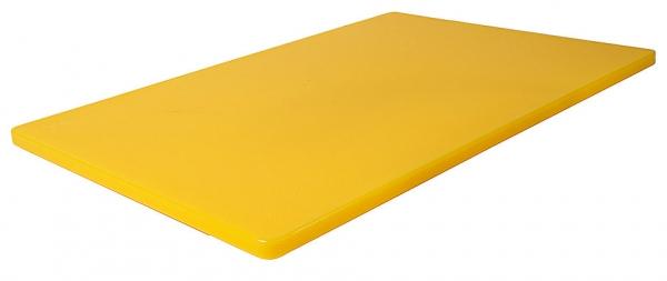 Schneidbrett HACCP mit Füßchen Länge: 45 cm Breite: 30 cm Dicke: 1,2 cm gelb